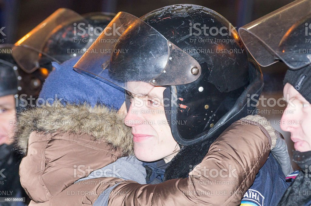 Anti-Government Protest in Ukraine stock photo