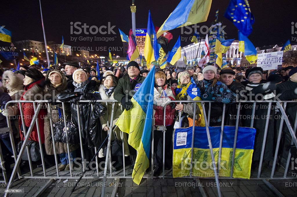 Anti-Government Protest in Ukraine royalty-free stock photo