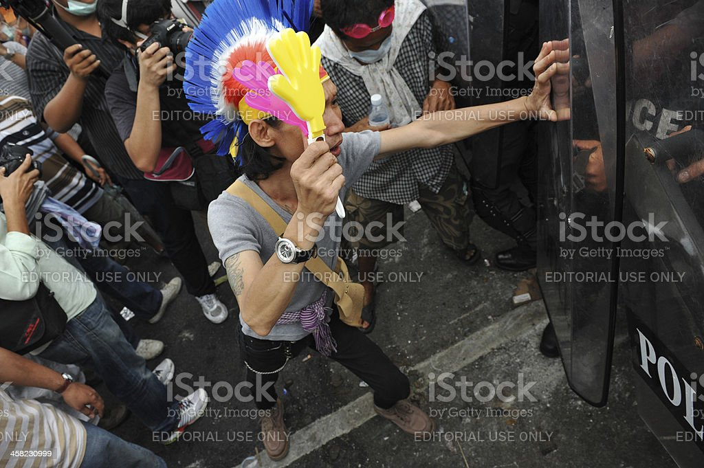 Anti-Government Rally in Bangkok royalty-free stock photo