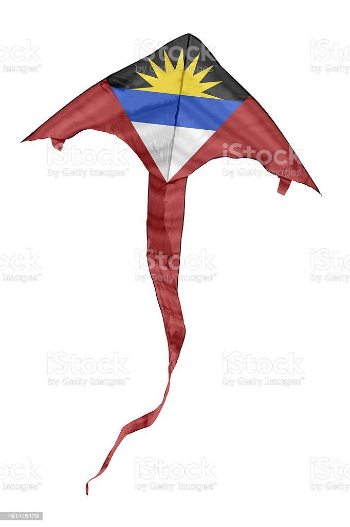 Antigua And Barbuda Flag Kite stock photo