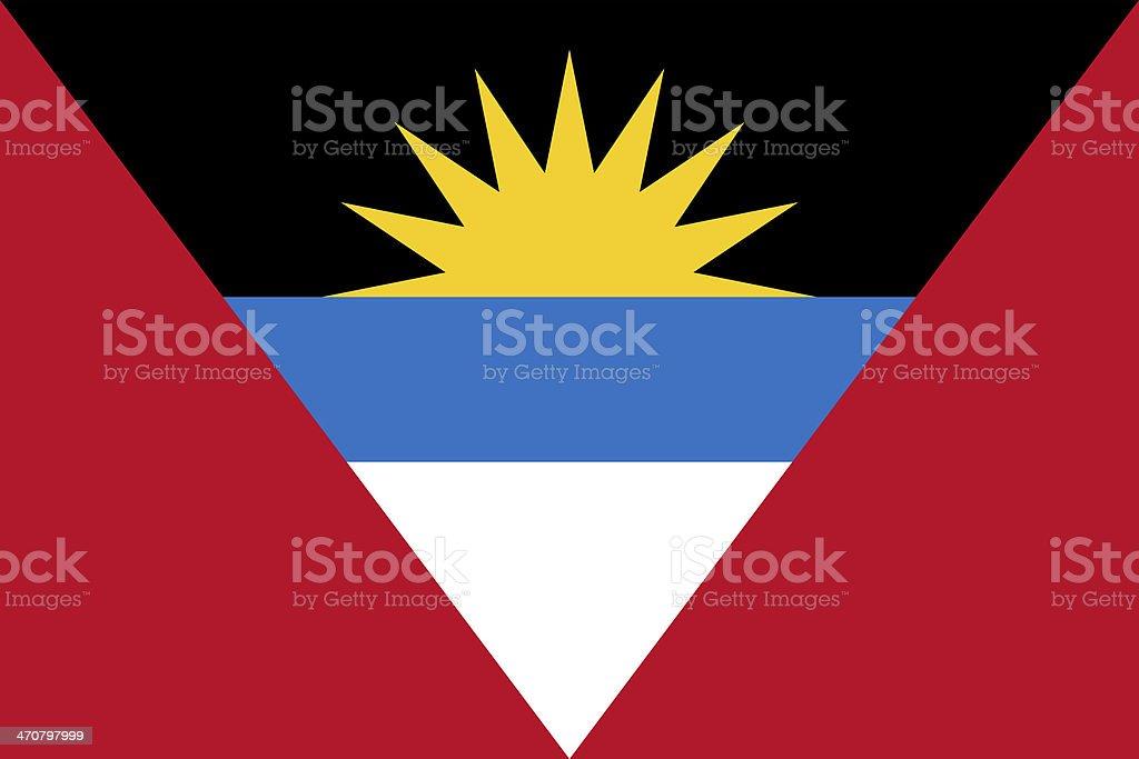 Antigua and Barbuda Flag stock photo