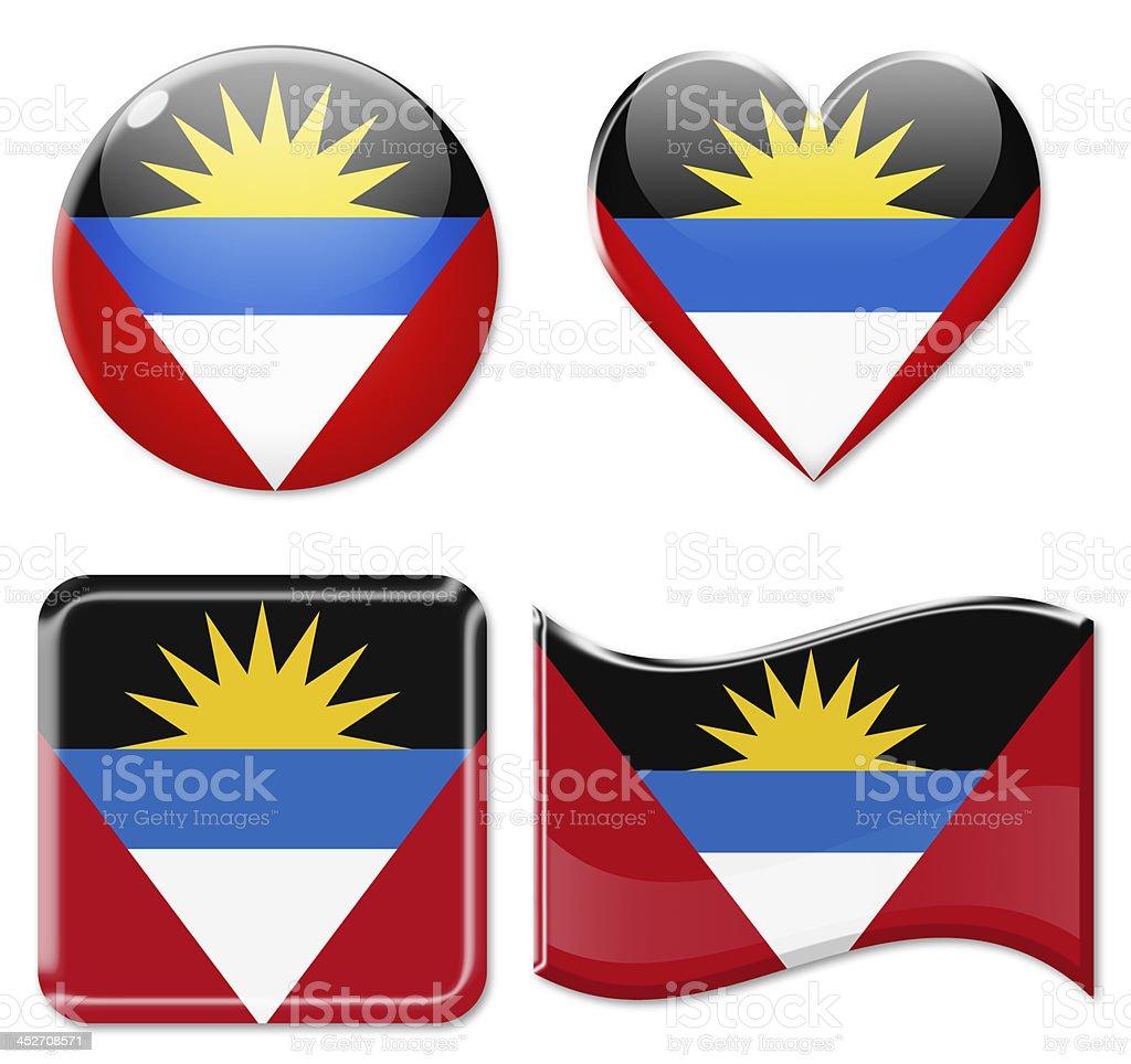 Antigua and Barbuda Flags & Icon Set stock photo