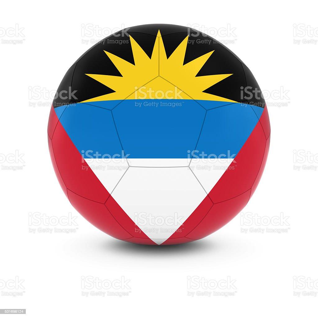 Antigua and Barbuda Football - Antiguan and Barbudan Soccer Ball stock photo