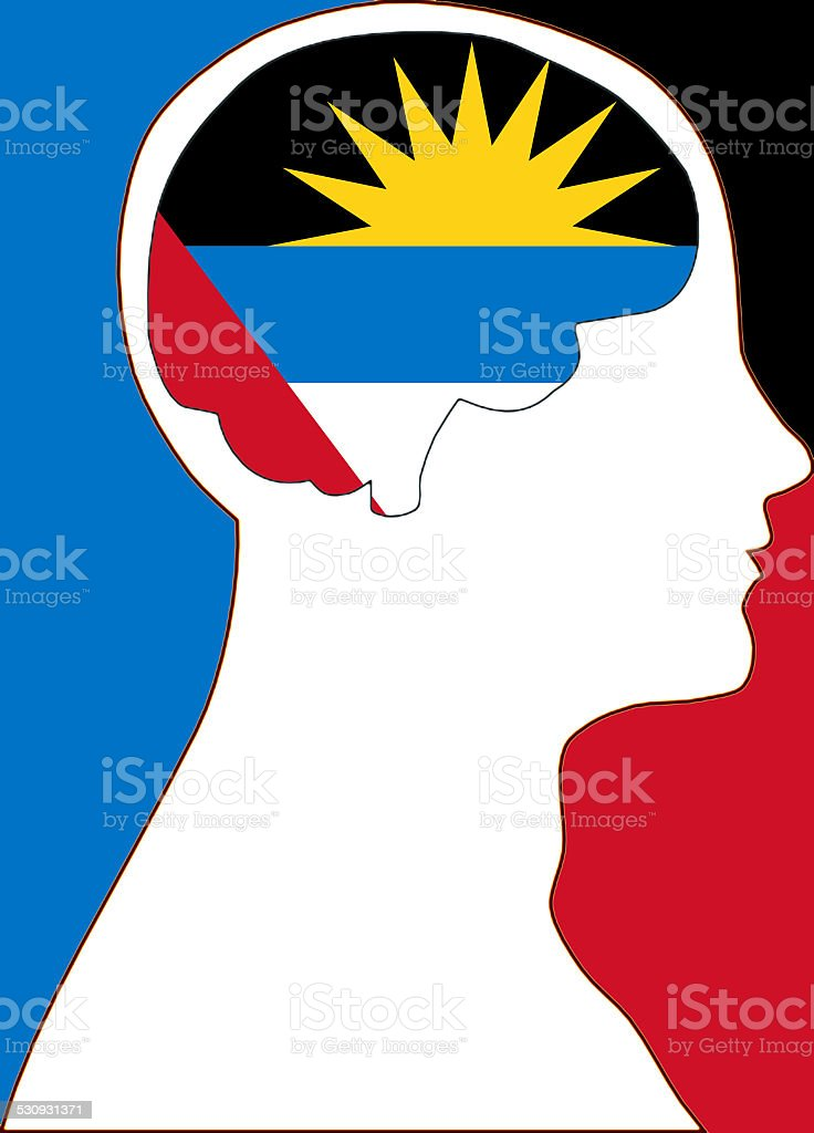 Antigua and Barbuda in my mind stock photo