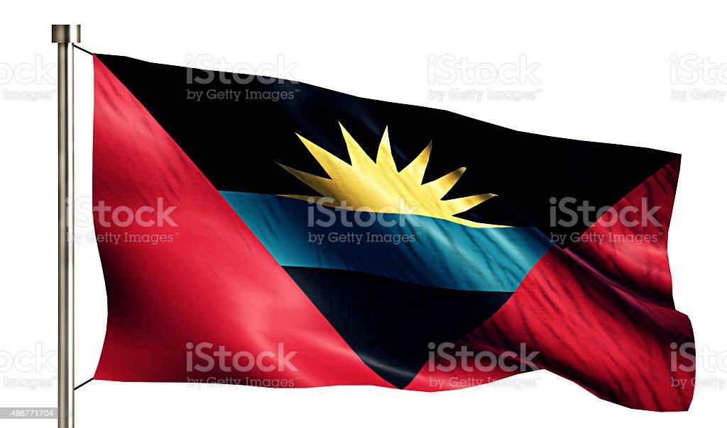 Antigua and Barbuda National Flag Isolated 3D White Background stock photo