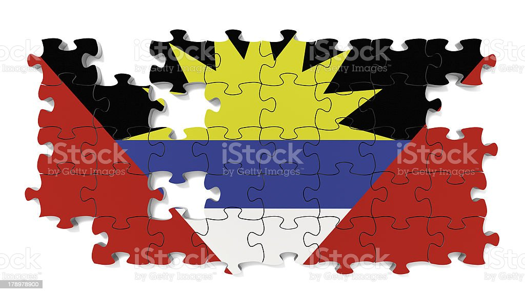 Antigua and Barbuda National Flag royalty-free stock photo