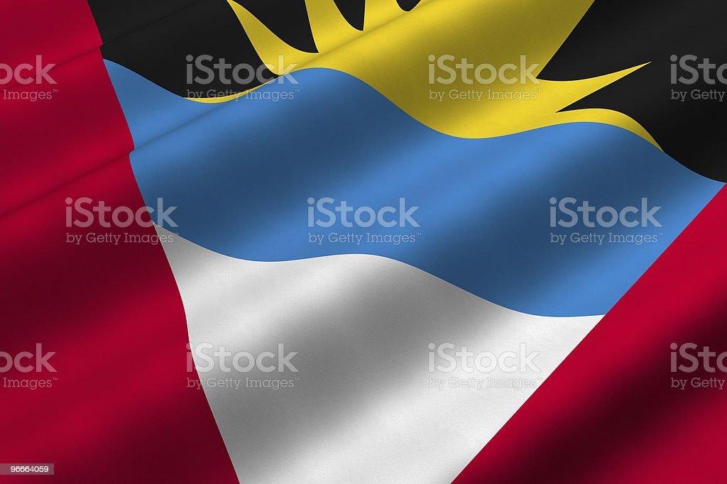 Antigua and Barbudan Flag stock photo