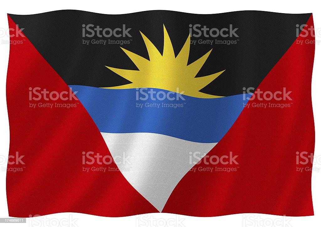 antigua barbuda flag stock photo