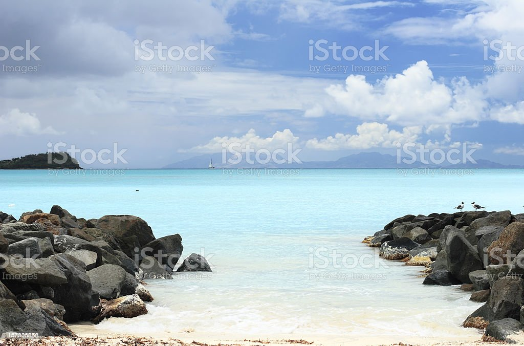 Antigua Beach stock photo
