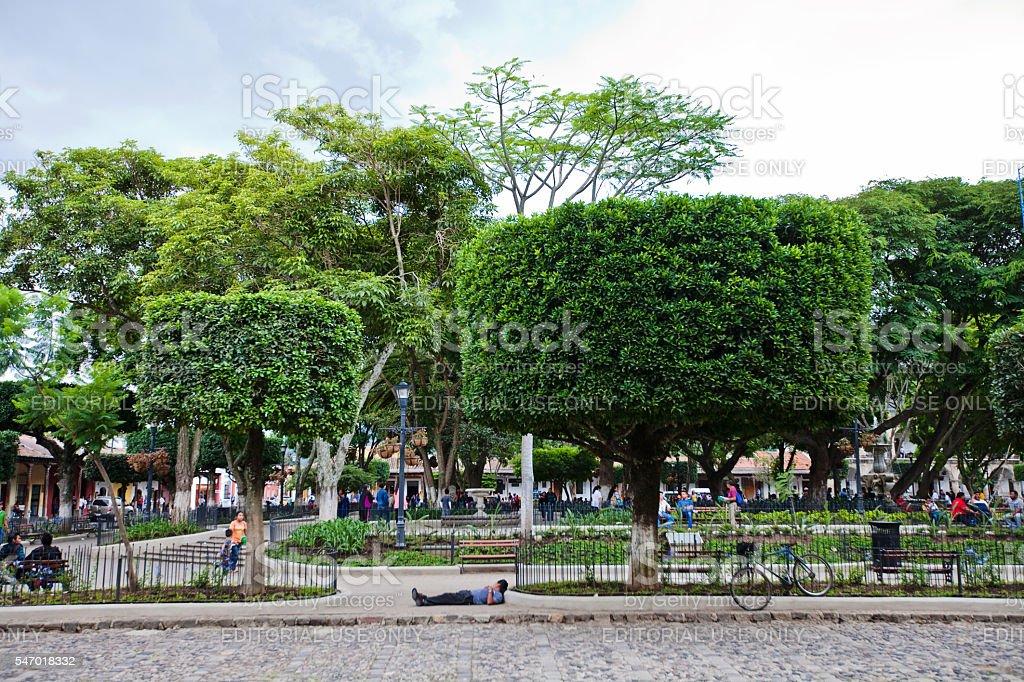 Antigua Central Park stock photo