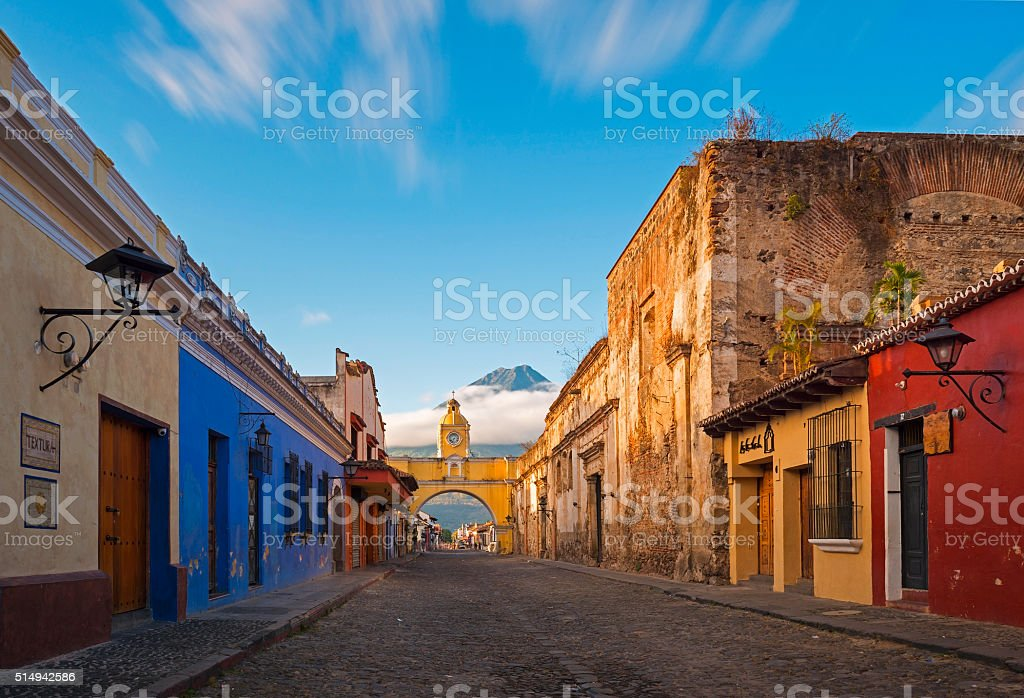Antigua Historic Center stock photo
