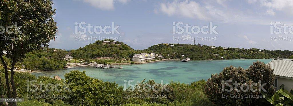 Antigua Long Bay stock photo