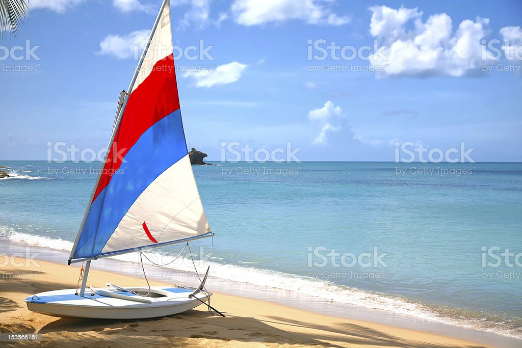Antigua Sailboat royalty-free stock photo