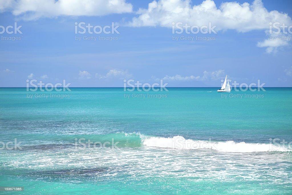 Antigua Sailboat royalty-free stock photo