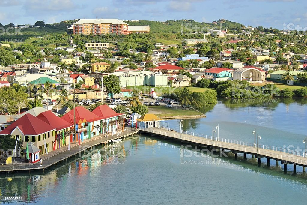 Antigua views stock photo