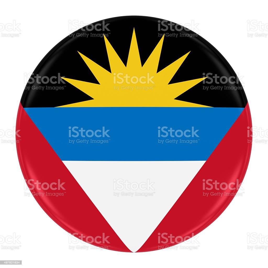 Antiguan and Barbudan Flag Badge stock photo