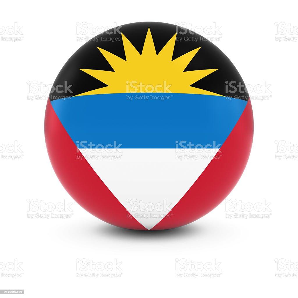 Antiguan and Barbudan Flag Ball - Flag of Antigua Barbuda stock photo