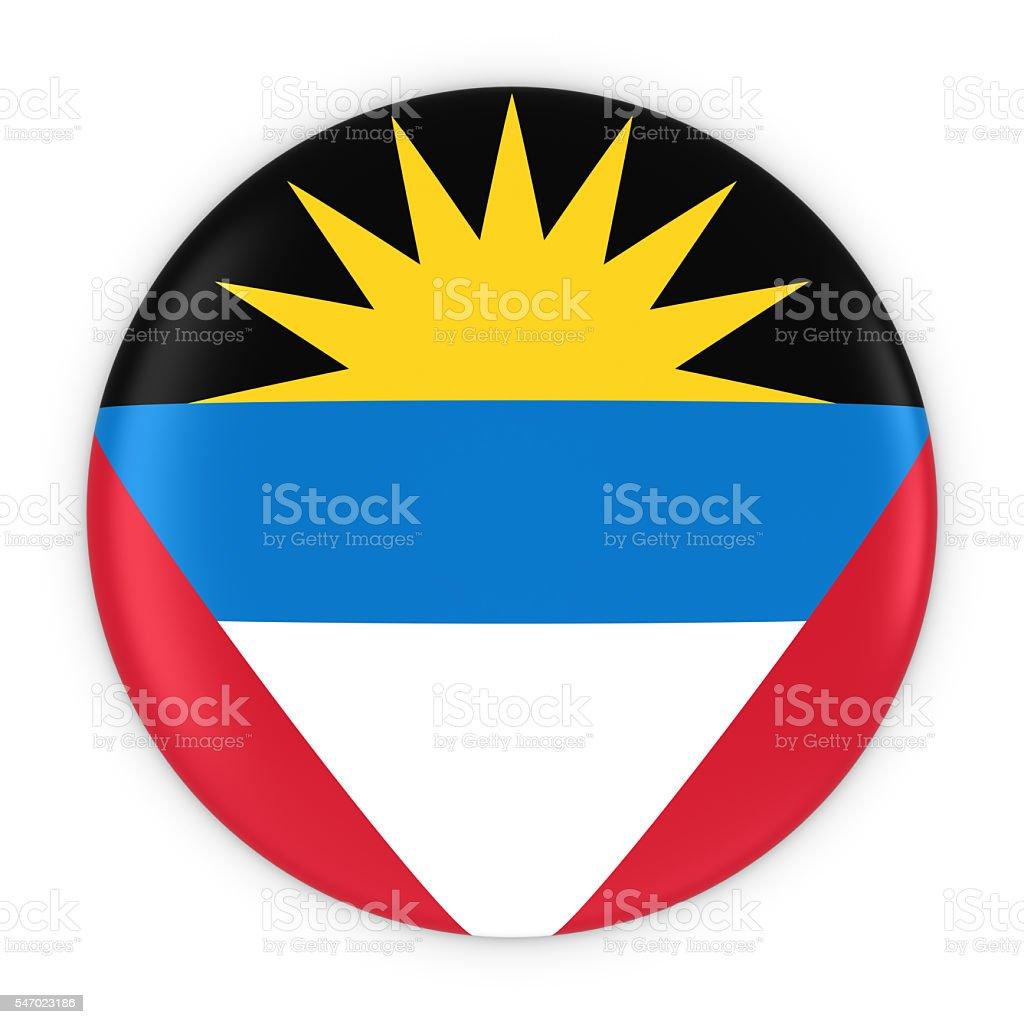 Antiguan and Barbudan Flag Button Flag of Antigua and Barbuda stock photo