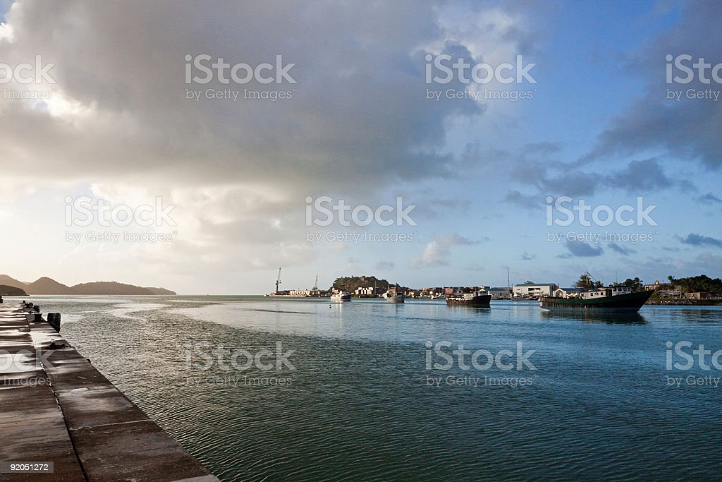 Antiguan Harbour royalty-free stock photo