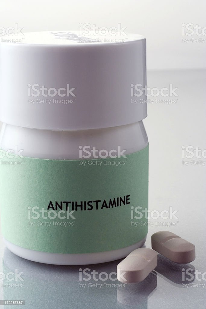 Antihistamine royalty-free stock photo
