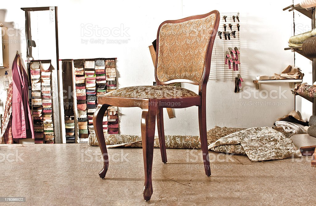 Antiker Holzstuhl / antique wooden chair royalty-free stock photo