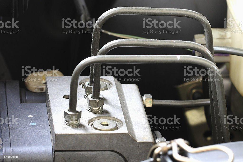Antilock braking system abs, closeup stock photo