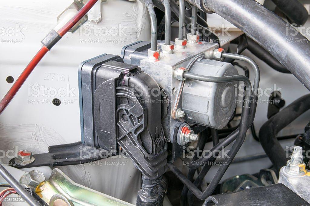 Antilock braking system abs stock photo