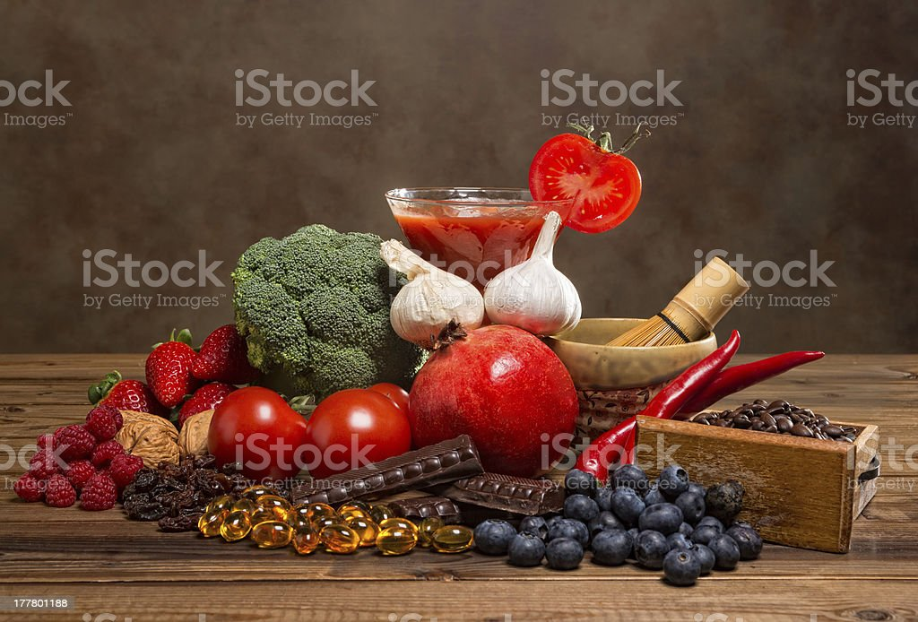 Antioxidants products royalty-free stock photo