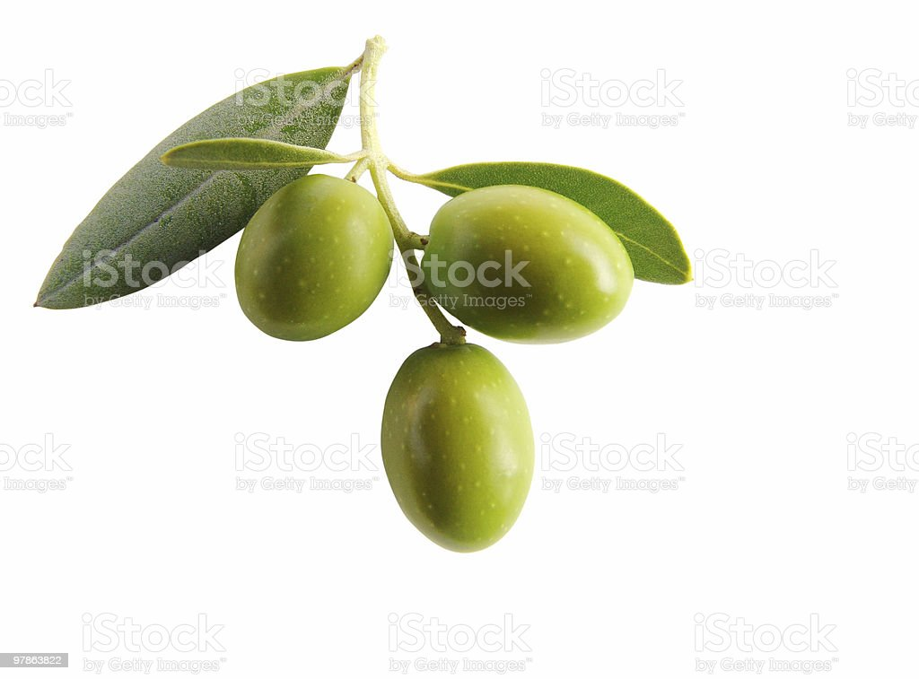 Antipasti - olives isolated III stock photo