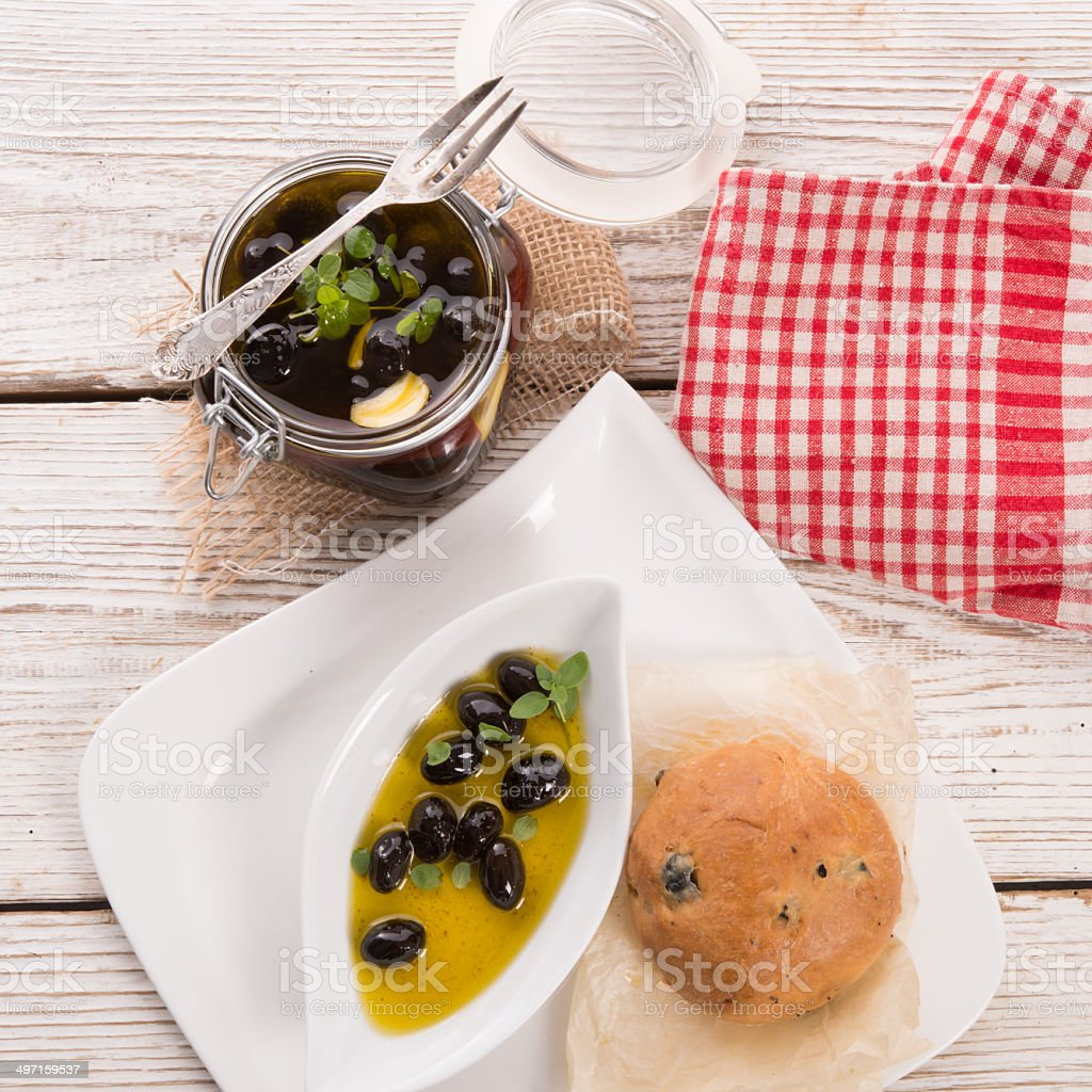 antipasti olives stock photo