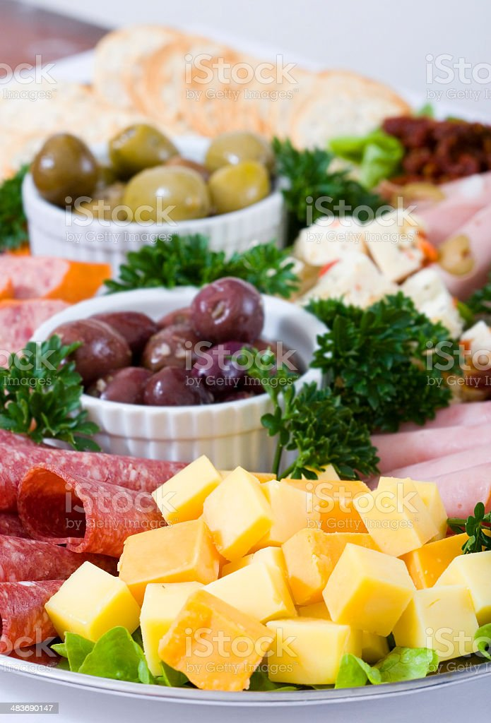 Antipasto catering platter royalty-free stock photo
