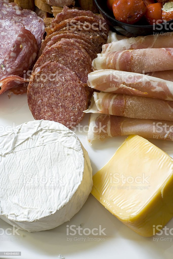 Antipasto; from above stock photo