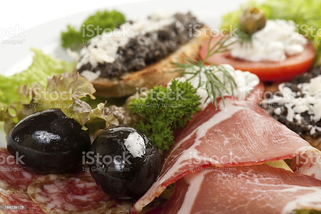 Antipasto plate royalty-free stock photo