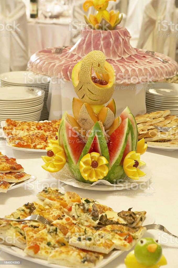 Antipasto Table stock photo