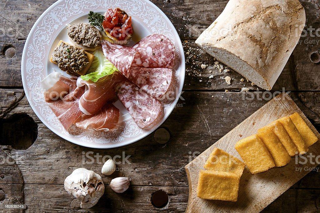 Antipasto toscano stock photo