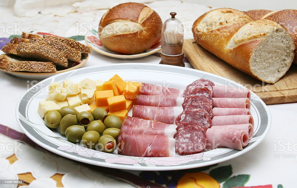Antipasto Tray. royalty-free stock photo