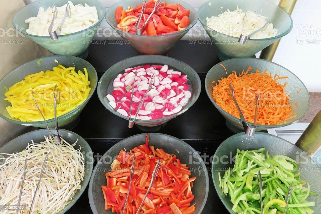 Antipasto Variety, banquet table stock photo