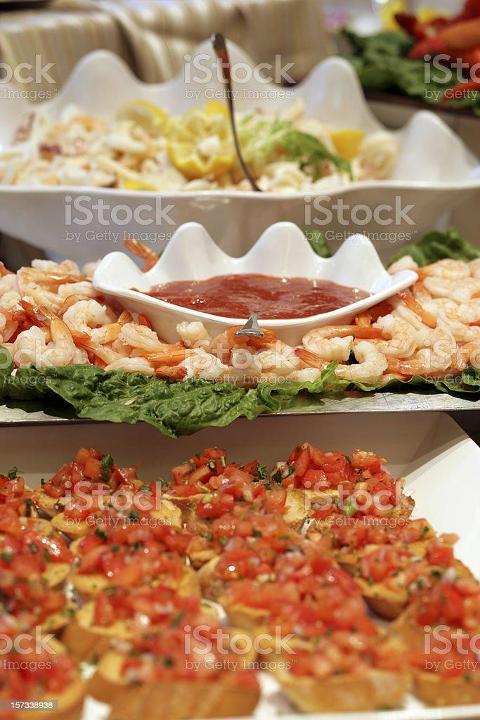 Antipasto Variety stock photo