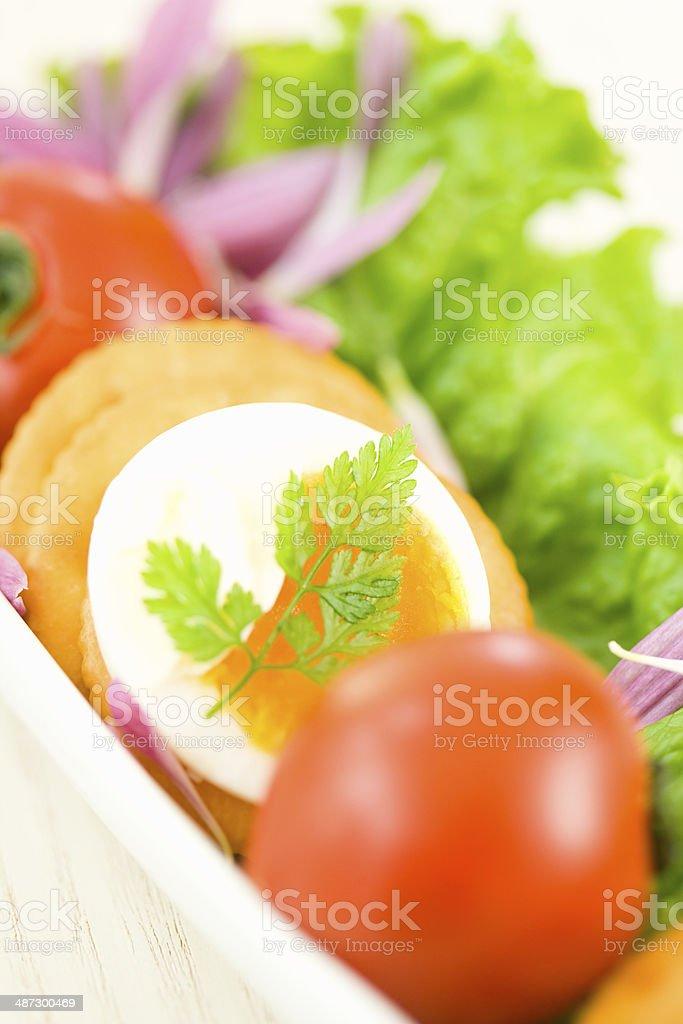 Antipasto with chervil royalty-free stock photo