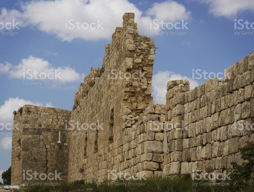 Antipatris fortress . stock photo
