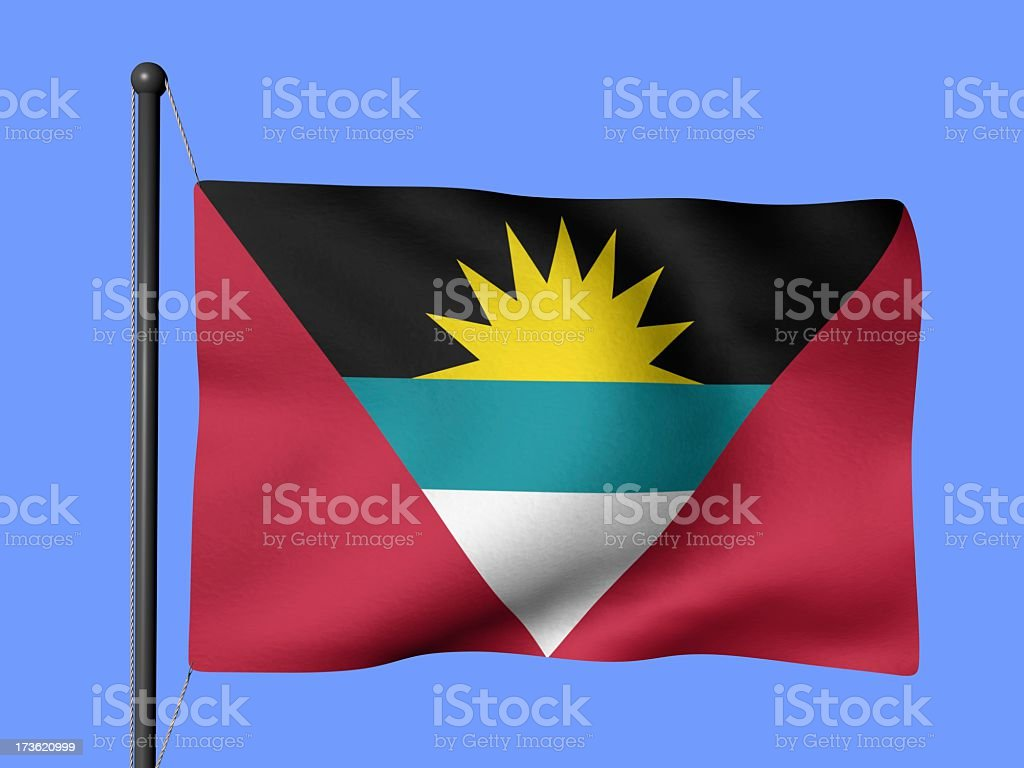Antiqua and Barbuda - flags of the world stock photo