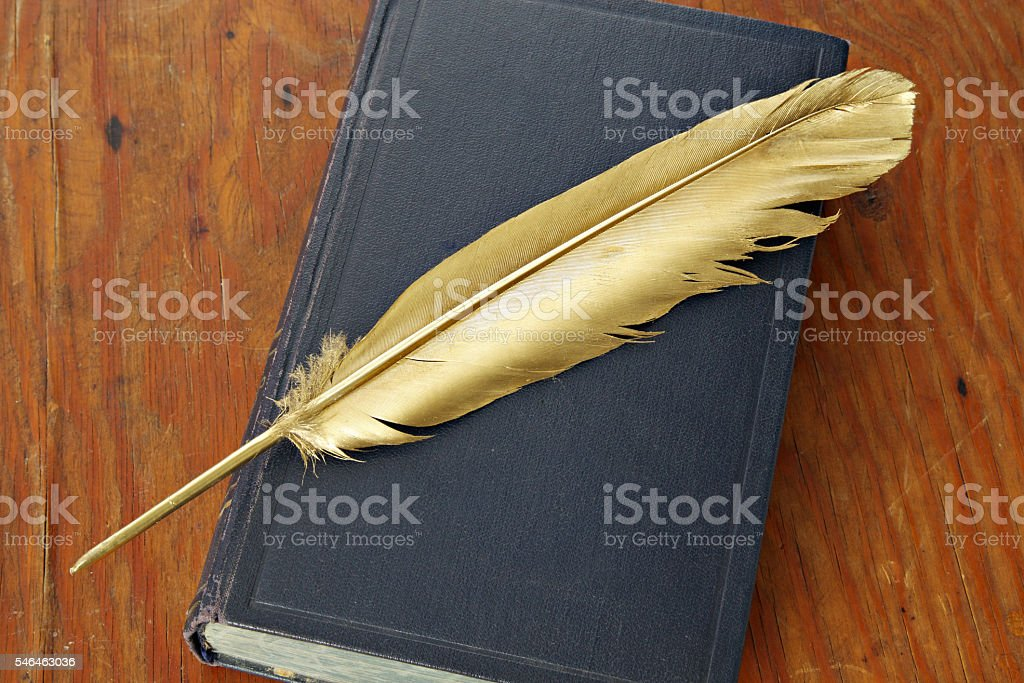 Antiquarian book stock photo