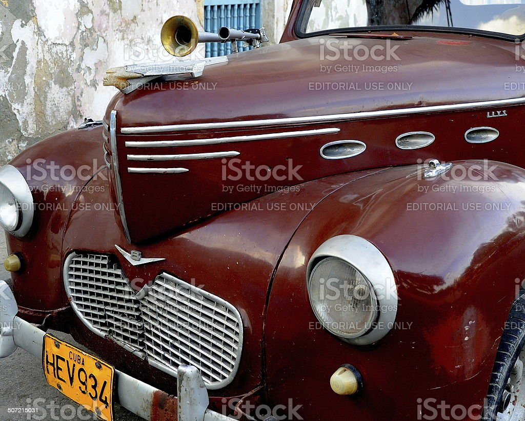 Antique 1940 Willys Pickup parked on street in Havana, Cuba stock photo