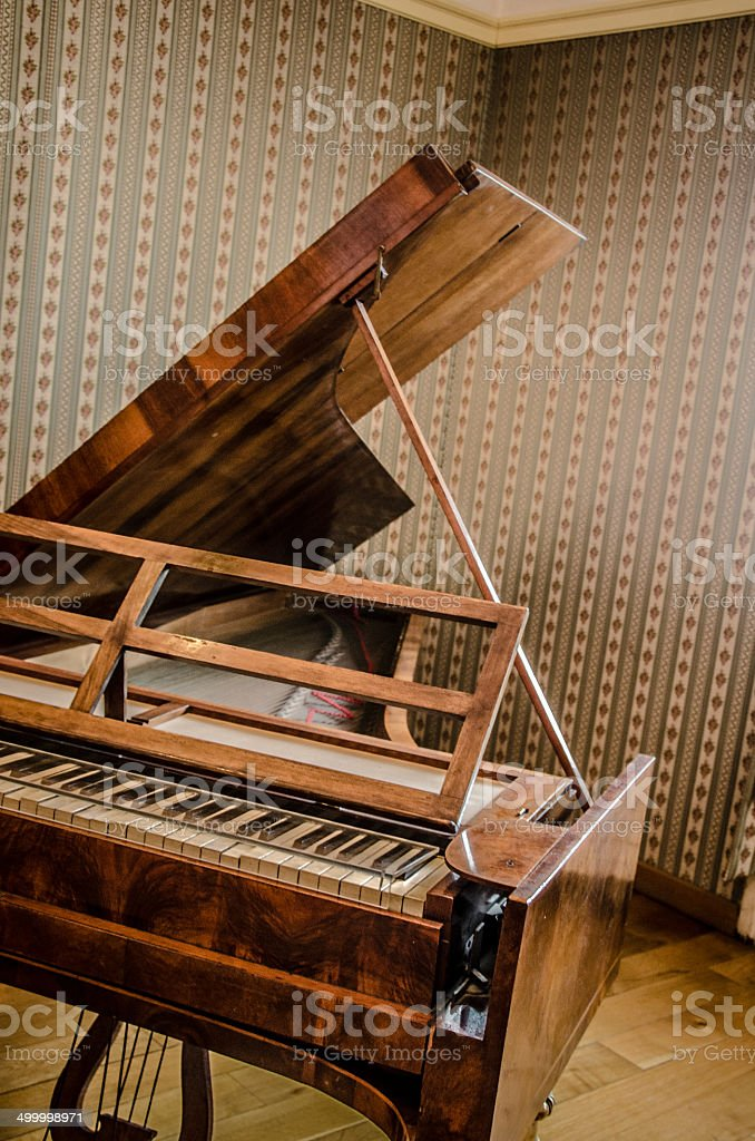Antique 19th Century Harpsichord stock photo
