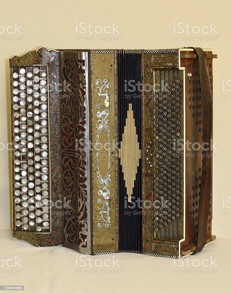 Antique Accordeon royalty-free stock photo