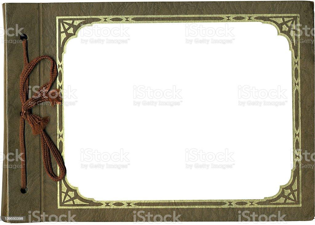 Antique album frame with bow -- horizontal royalty-free stock photo