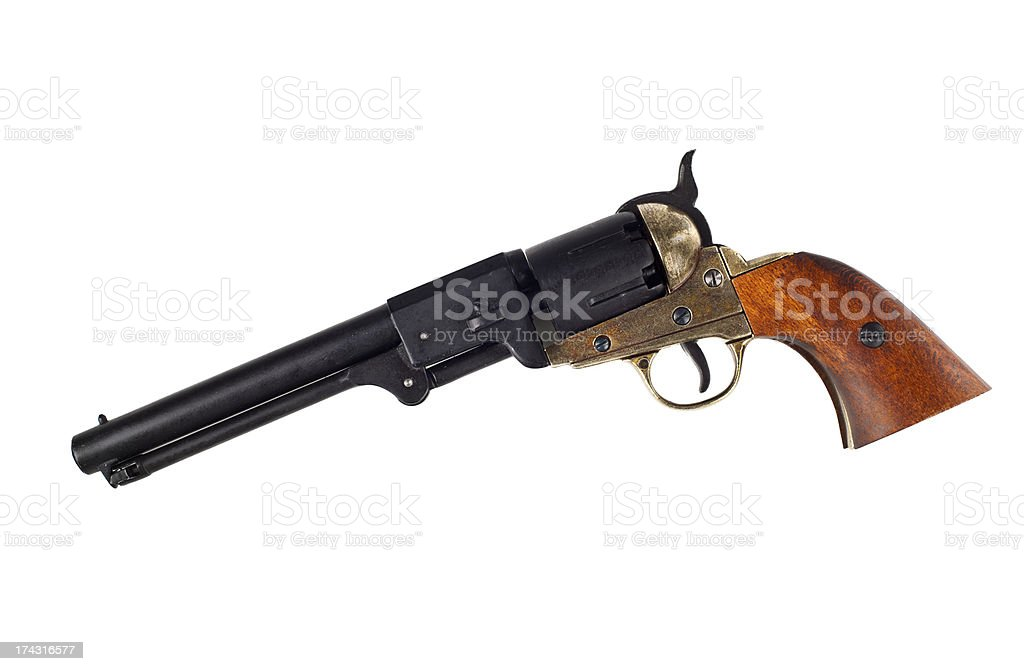 Antique american Colt Navy percussion revolver stock photo