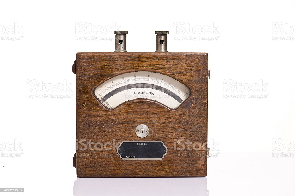 Antique Ammeter Meter royalty-free stock photo