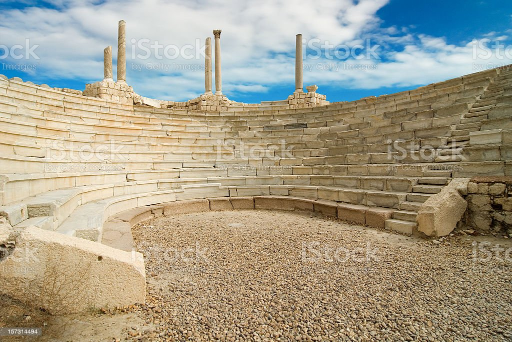antique amphitheatre stock photo