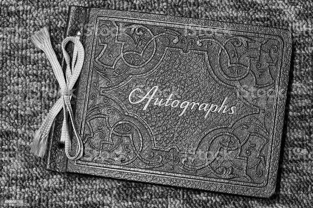 Antique et Carnet d'autographes Vintage photo libre de droits